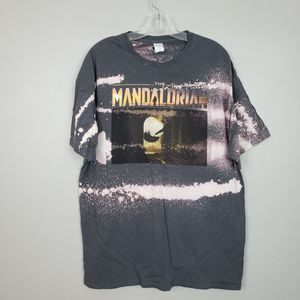 Star Wars The Mandalorian Bleached Graphic Tee